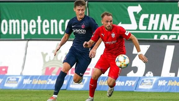 v.l.: Carlo Sickinger (25, Lautern) und Fabio Viteritti (11, Zwickau)