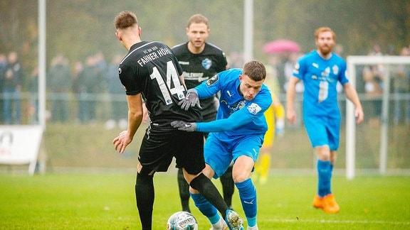 Kilian Pagliuca 28 FC Carl Zeiss Jena gegen Eric Stelzer 14 FC