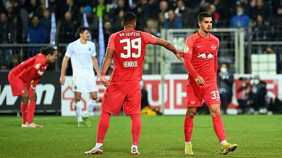 Andre Silva RB Leipzig wird ausgewechselt