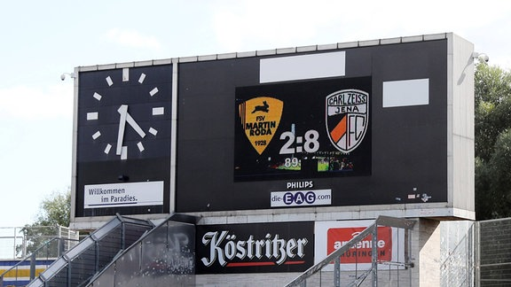FC Carl Zeiss Jena - Anzeigetafel im Ernst-Abbe-Sportfeld