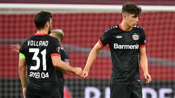 Kevin Volland Leverkusen und Kai Havertz Leverkusen