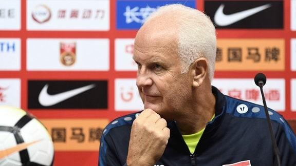 Bernd Stange, Ex-Nationaltrainer von Syrien