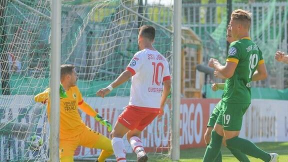 Tor für Regensburg zum 0:1 durch Julian Derstoff (SSV Jan Regensburg)
