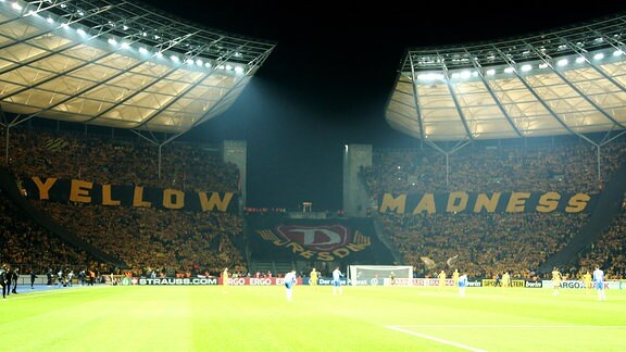 Fanchoregrafie der Dresdener Fans yellow madness