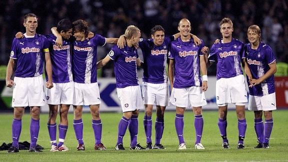 v.li.: Tomasz Paulus, Fatih Yigitusagi, Marc Hensel, Arne Feick, Mohamed El Berkani, Sebastian Glasner, Steve Müller und Jan Hochscheid.