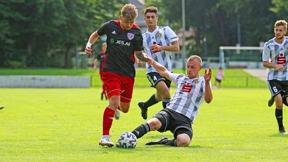 Matteo Hecker Greifswalder FC vs. Johannes Mahrhold 1. FC Lok Stendal