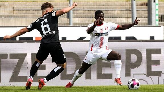 Braydon Manu Hallescher FC Halle,28 vs Adrian Malachowski 1 FC Magdeburg,6