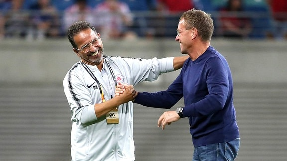 Mustapha Mesloub und Ralf Rangnick