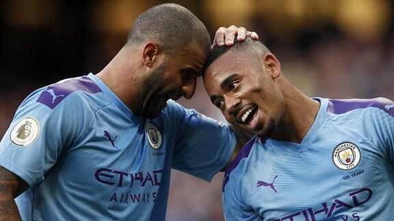 Gabriel Jesus und Kyle Walker (Manchester City)