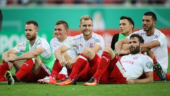 Hallescher FC 2016 nach dem ersten Hauptrundenspiel des DFB-Pokals