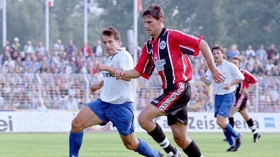 Zweikampf Heiko Weber (li) und Alexander Kutschera, 1997