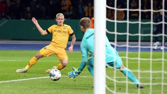 2: 3 durch Luka Stor (Dynamo Dresden 37), Thomas Kraft (Hertha BSC Berlin).