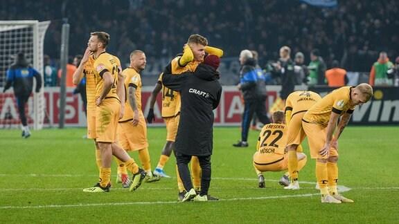 Das Spiel ist aus und die Enttäuschung bei Dynamo groß.