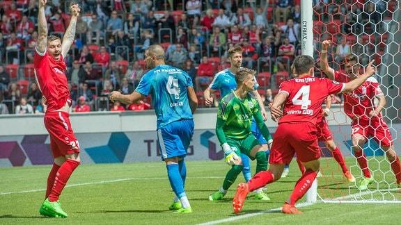 Landespokalfinale 2017: RWE gewinnt durch ein Tor von Nikolaou mit 1:0 gegen Nordhausen.