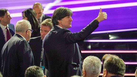 DFB-Präsident Fritz Keller mit Bundestrainer Joachim Löw