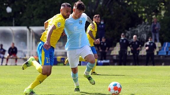 Djamal ZIANE 13, Lok Leipzig gegen Riccardo GRYM 10, Chemnitzer FC
