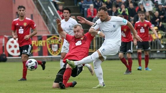 v.l. Luka Sliskovic Magdeburg, 7 schiesst Tor.
