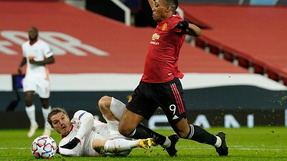 Anthony Martial of Manchester United, ManU is brought down to earn a penalty during the UEFA Champions League match at Old Trafford, Manchester. Picture date: 28th October 2020. Picture credit should read: Andrew Yates/Sportimage PUBLICATIONxNOTxINxUK SPI-0732-0100
