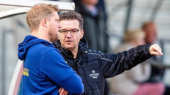 Trainer Robert Fischer vom FSV Martinroda