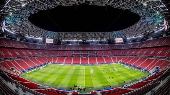 Innenansicht der Puskas Arena in Budapest