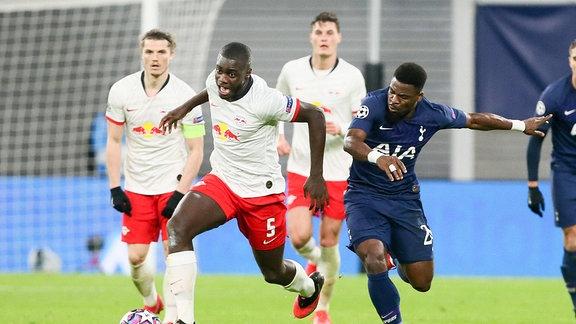 Dayot Upamecano 5, RB Leipzig und Serge Aurier 24, Tottenham