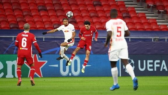 Thiago Alcantara FC Liverpool, Christopher Nkunku RB Leipzig, Trent Alexander-Arnold FC Liverpool