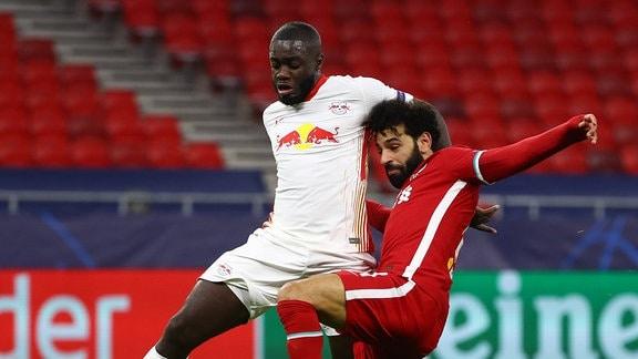 Dayot Upamecano RB Leipzig, Mohamed Salah FC Liverpool