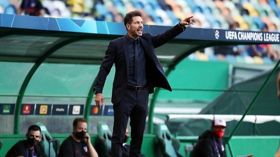 Trainer Diego Simeone (Atletico Madrid)