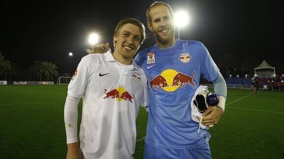 Emil Forsberg und Peter Gulacsi