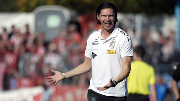 Trainer Thomas Brdaric (Erfurt).