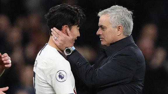 Heung-Min Son und Jose Mourinho
