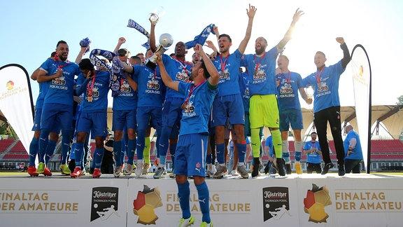 Wacker Nordhausen feiert den Pokalsieg
