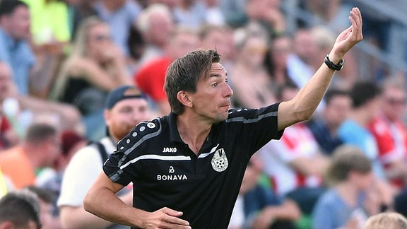 Cheftrainer André Meyer, FSV Union Fürstenwalde.