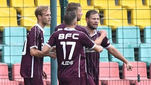 v. l. Lucas Brumme BFC Dynamo, Marvin Kleihs BFC Dynamo, Michael Blum BFC Dynamo, Benjamin Förster BFC Dynamo