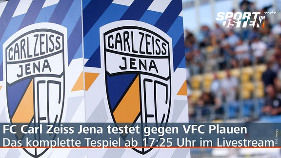 Logo des FC Carl Zeiss Jena im Stadion