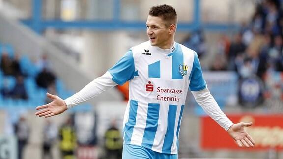 Daniel Frahn (Chemnitzer FC gegen Halberstadt)