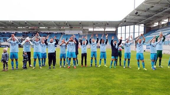 Chemnitzer FC feiert die Regionalliga-Meisterschaft nach Spielende
