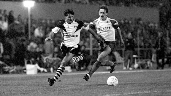 Chemnitzer FC gegen Borussia Dortmund im Europapokal 1990/91.