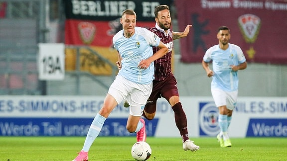 Simon Noah Roscher (29, Chemnitz) und Ronny Garbuschewski (10, BFC Dynamo)