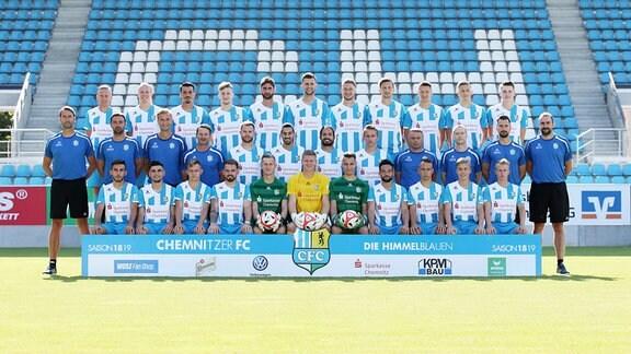 Mannschaftsfoto des Chemnitzer FC.