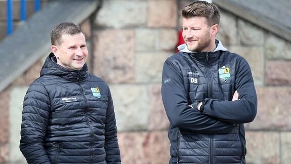 Im Bild v.l.: Geschäftsführer Marc Arnold und Trainer Daniel Berlinski