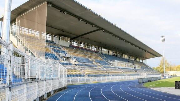 Haupttribüne Ernst-Abbe Sportfeld