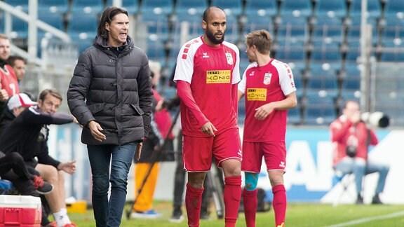 Trainer Thomas Brdaric Rot Weiß Erfurt.
