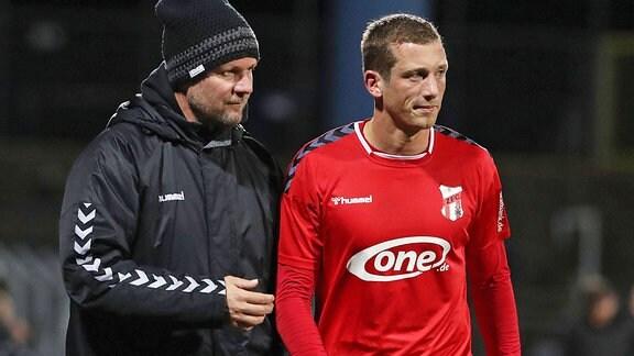 Hendrik Ernst mit Trainer Holm Pinder