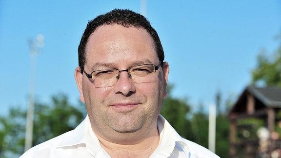 Hubert Wolf, Präsident des ZFC Meuselwitz und Chef der Firma bluechip Fußball.