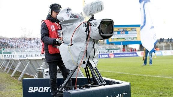 Sport im Osten-Kamera bei Lok  - Chemie