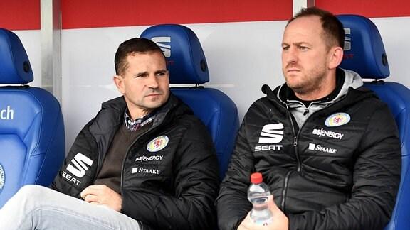 Sportlicher Leiter Marc Arnold (Eintracht Braunschweig), Trainer Torsten Lieberknecht (Eintracht Braunschweig)