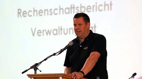 Ordentliche Mitgliederversammlung des FC Energie Cottbus - Vorsitzender des Verwaltungsrates Matthias Auth