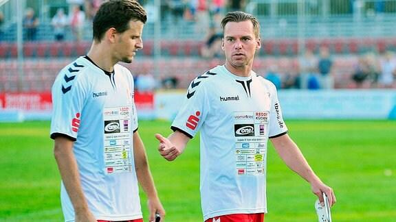 Rene Weinert und Sebastian Albert vom ZFC Meuselwitz