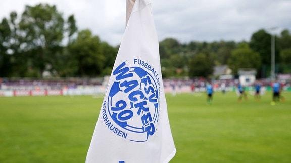 Eckfahne Fahne mit Logo von Wacker Nordhausen